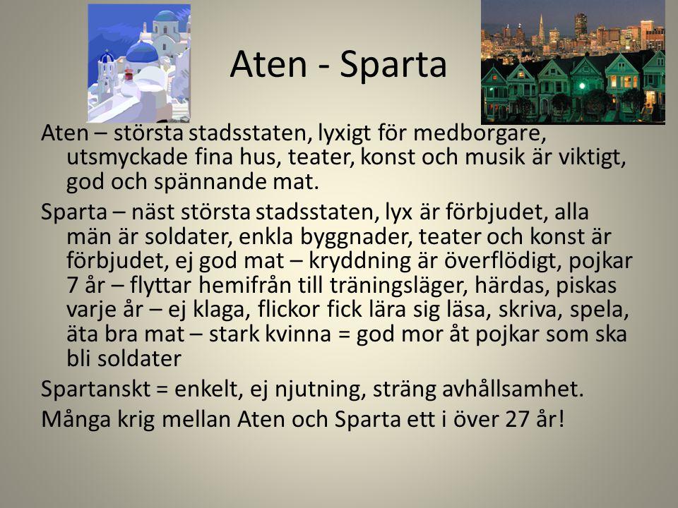 Aten - Sparta