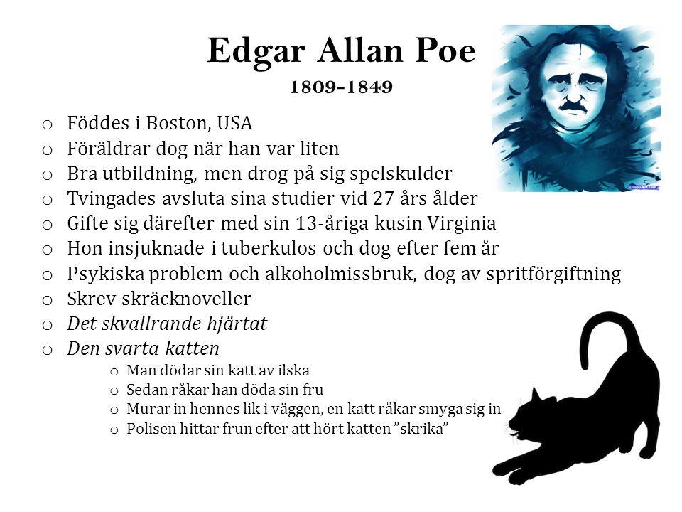 Edgar Allan Poe 1809-1849 Föddes i Boston, USA