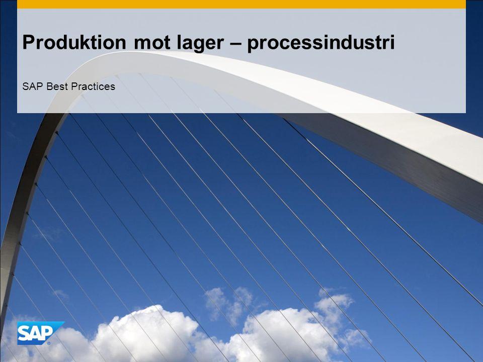 Produktion mot lager – processindustri