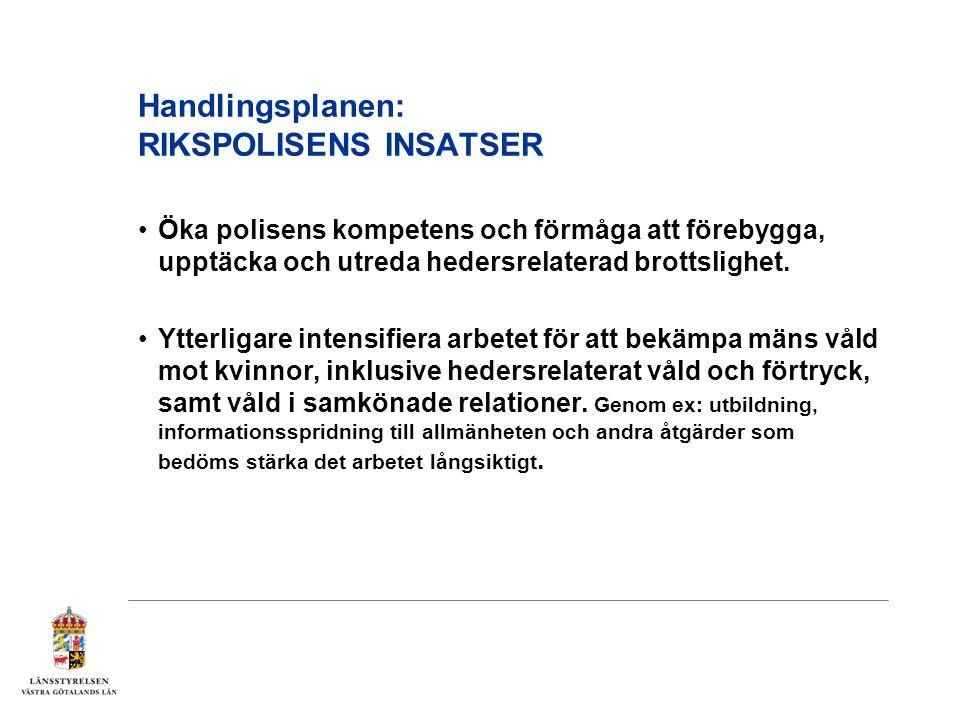 Handlingsplanen: RIKSPOLISENS INSATSER