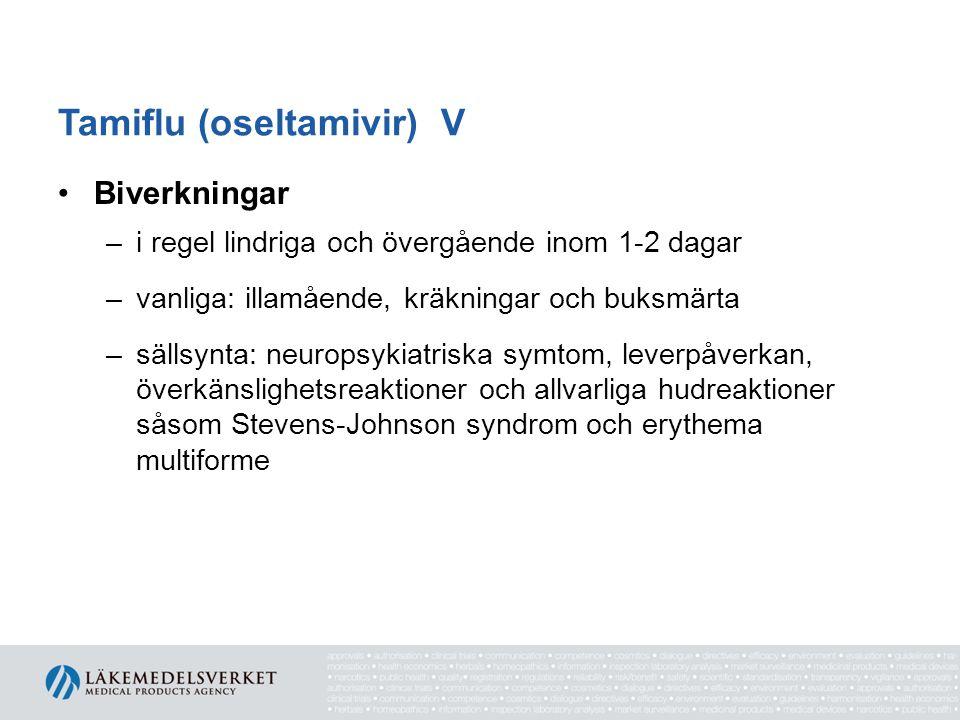 Tamiflu (oseltamivir) V