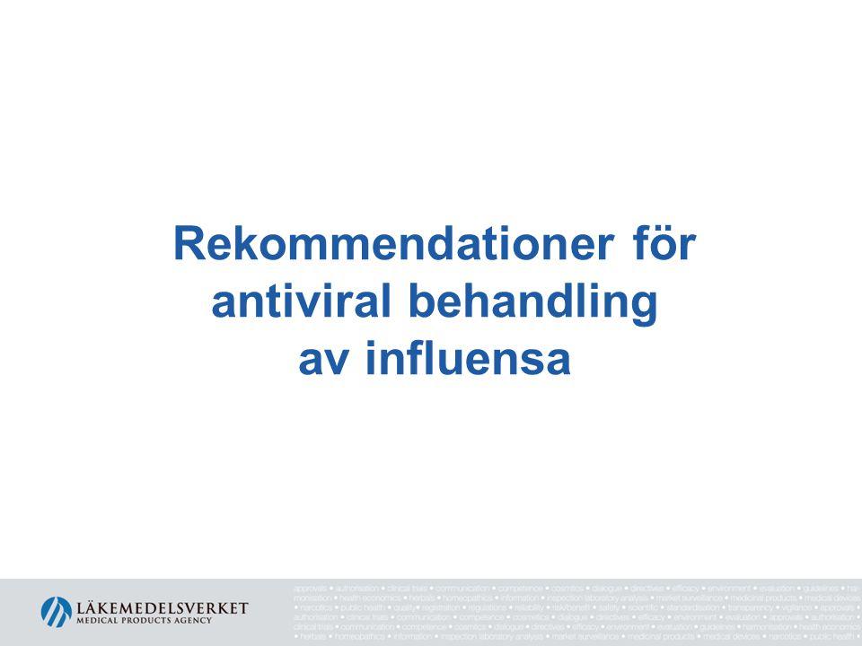 Rekommendationer för antiviral behandling av influensa
