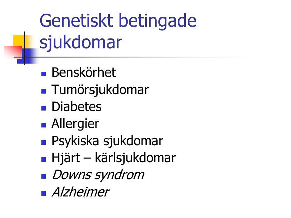 Genetiskt betingade sjukdomar