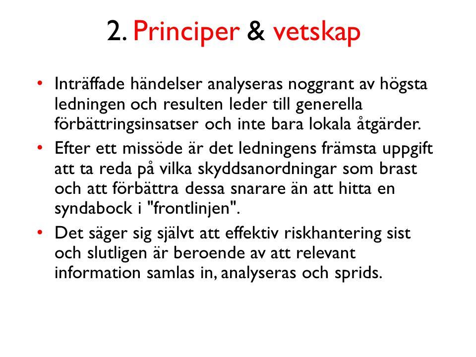 2. Principer & vetskap