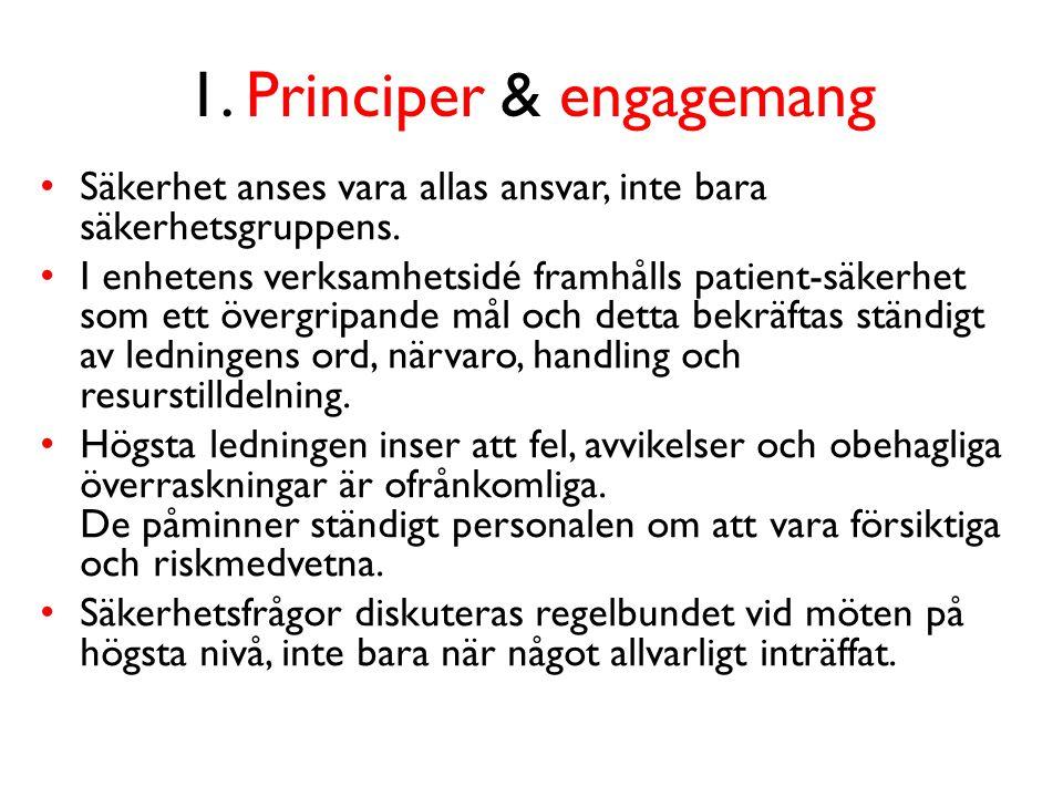 1. Principer & engagemang