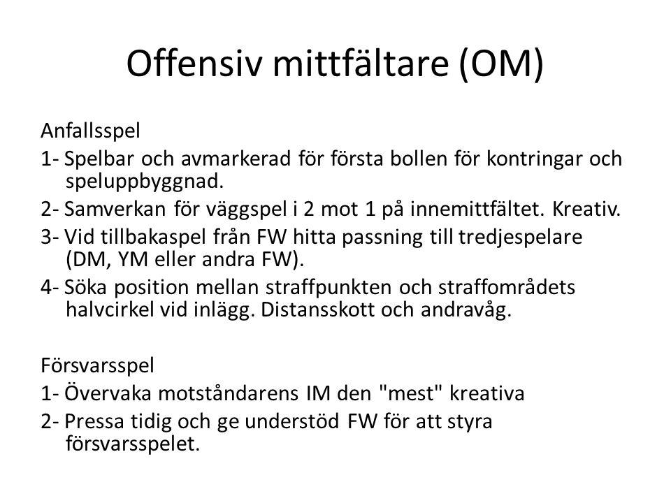 Offensiv mittfältare (OM)