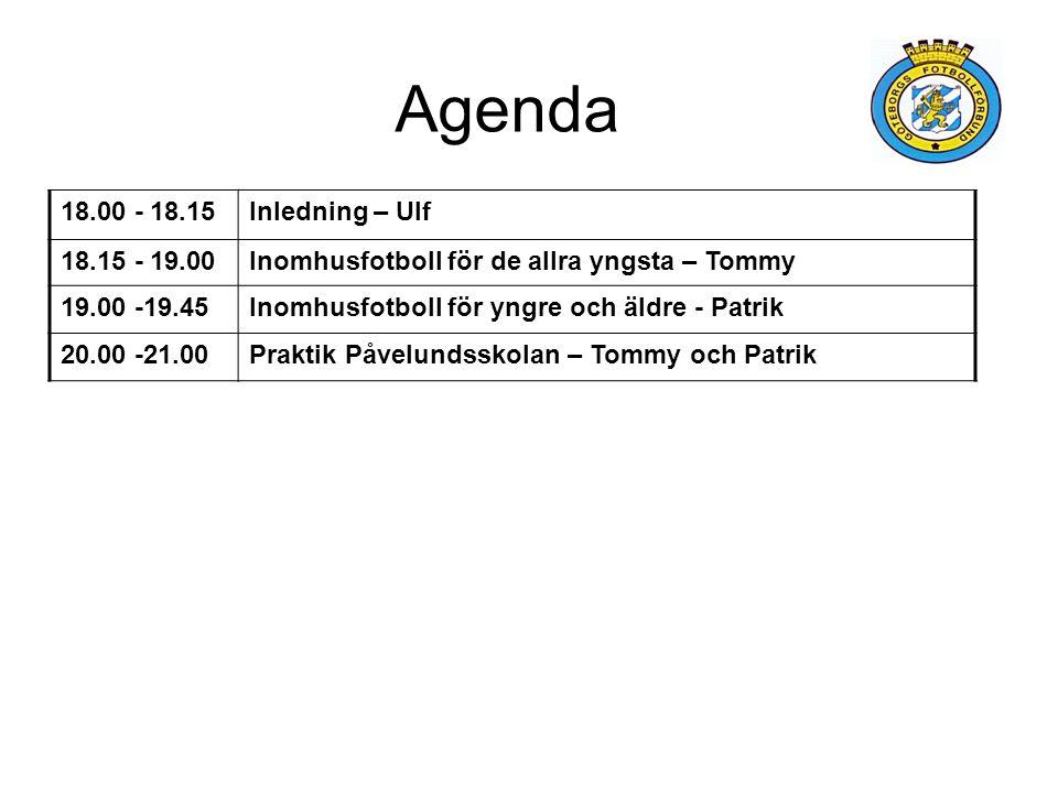 Agenda 18.00 - 18.15 Inledning – Ulf 18.15 - 19.00