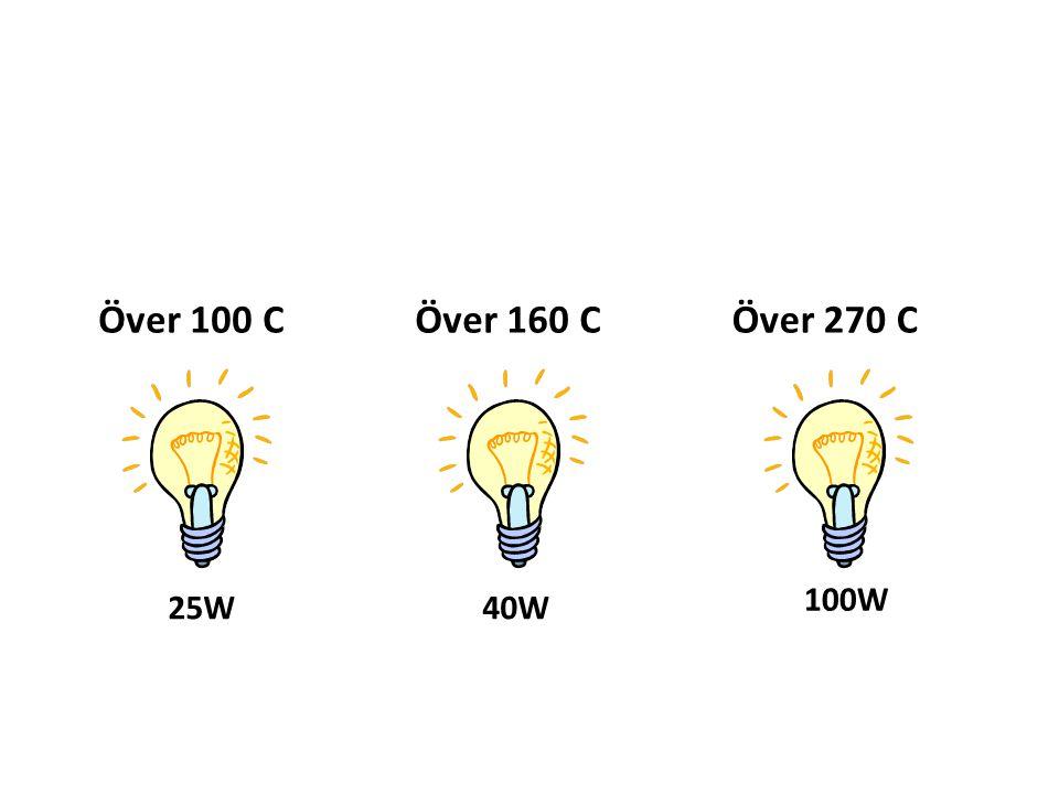 Över 100 C Över 160 C Över 270 C 100W 25W 40W