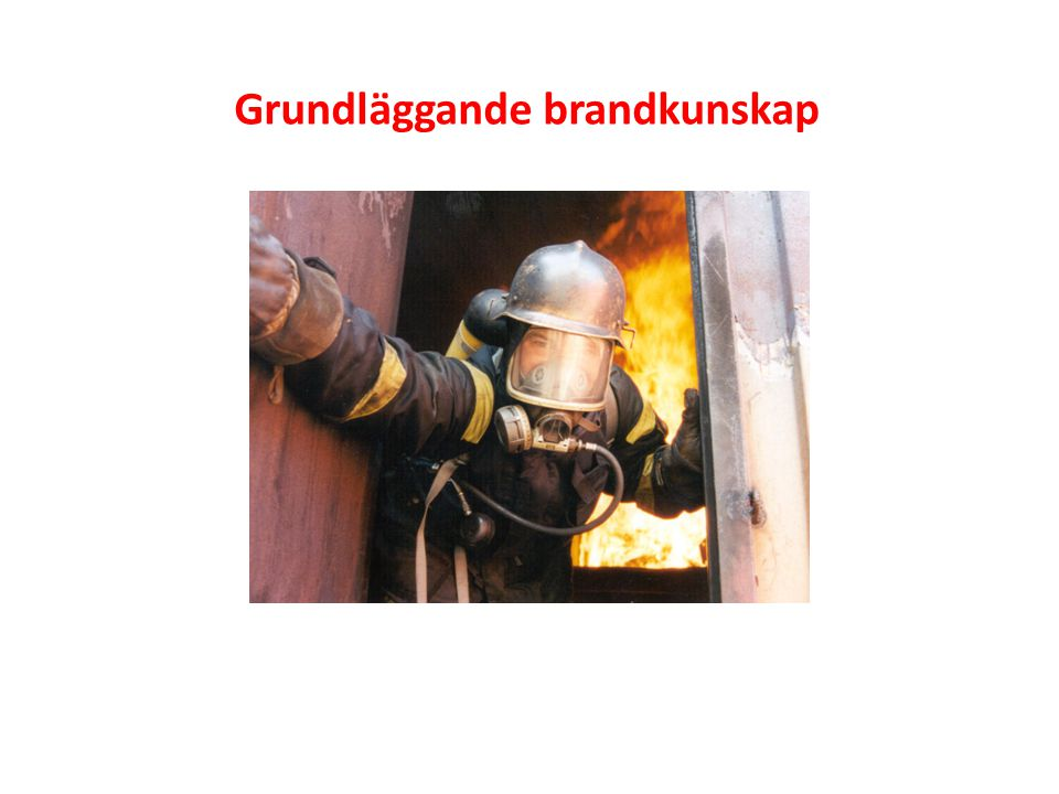Grundläggande brandkunskap