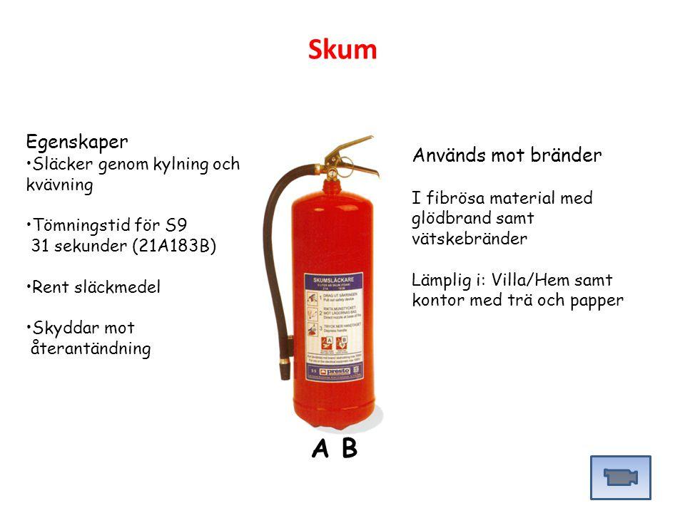 Skum A B Egenskaper Används mot bränder
