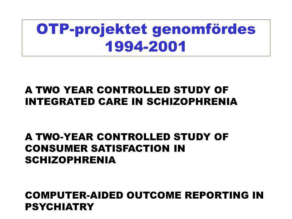 OTP-projektet genomfördes 1994-2001