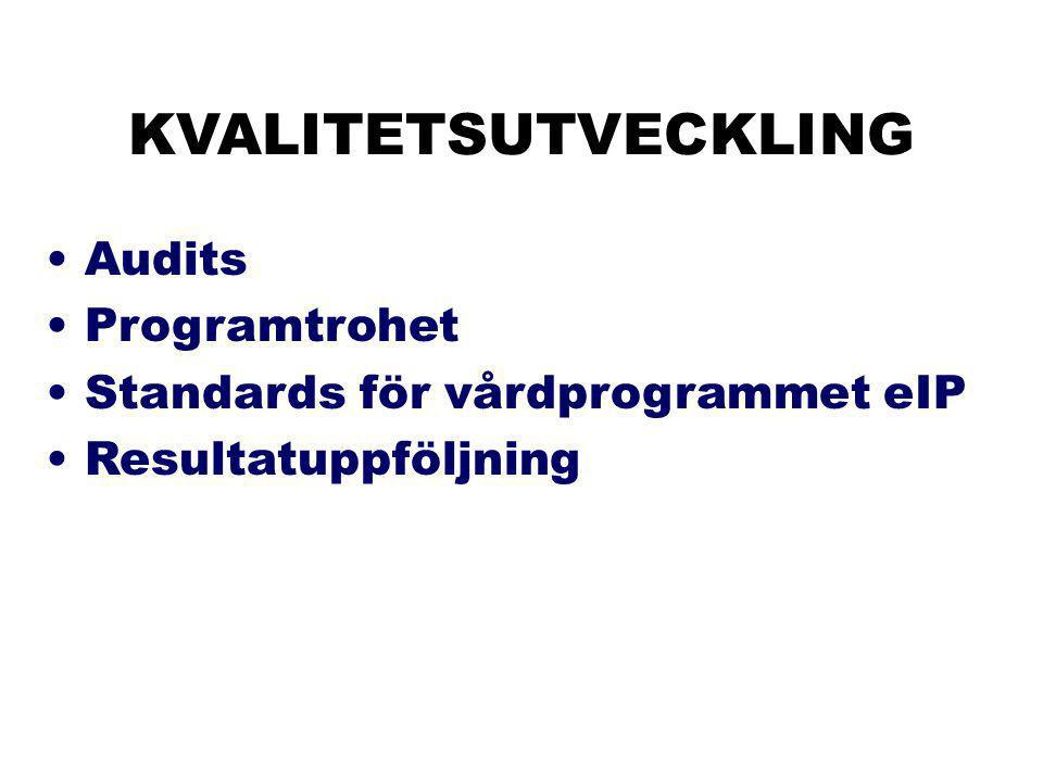 KVALITETSUTVECKLING Audits Programtrohet