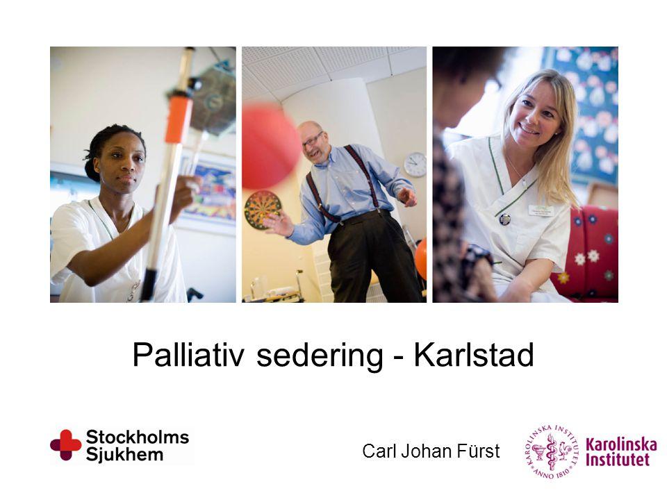 Palliativ sedering - Karlstad