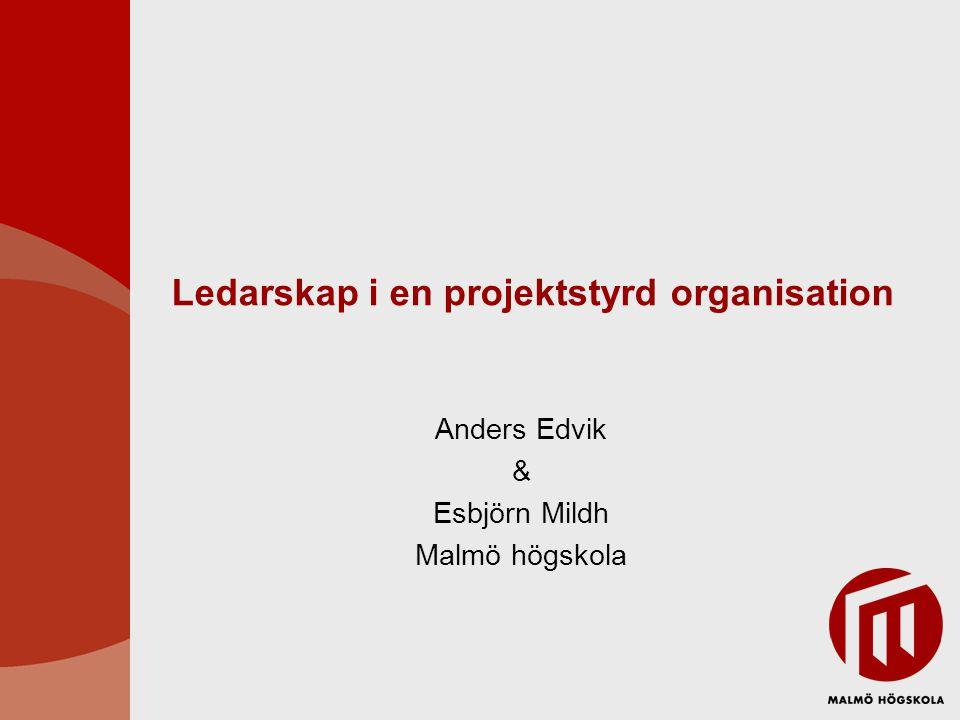 Ledarskap i en projektstyrd organisation
