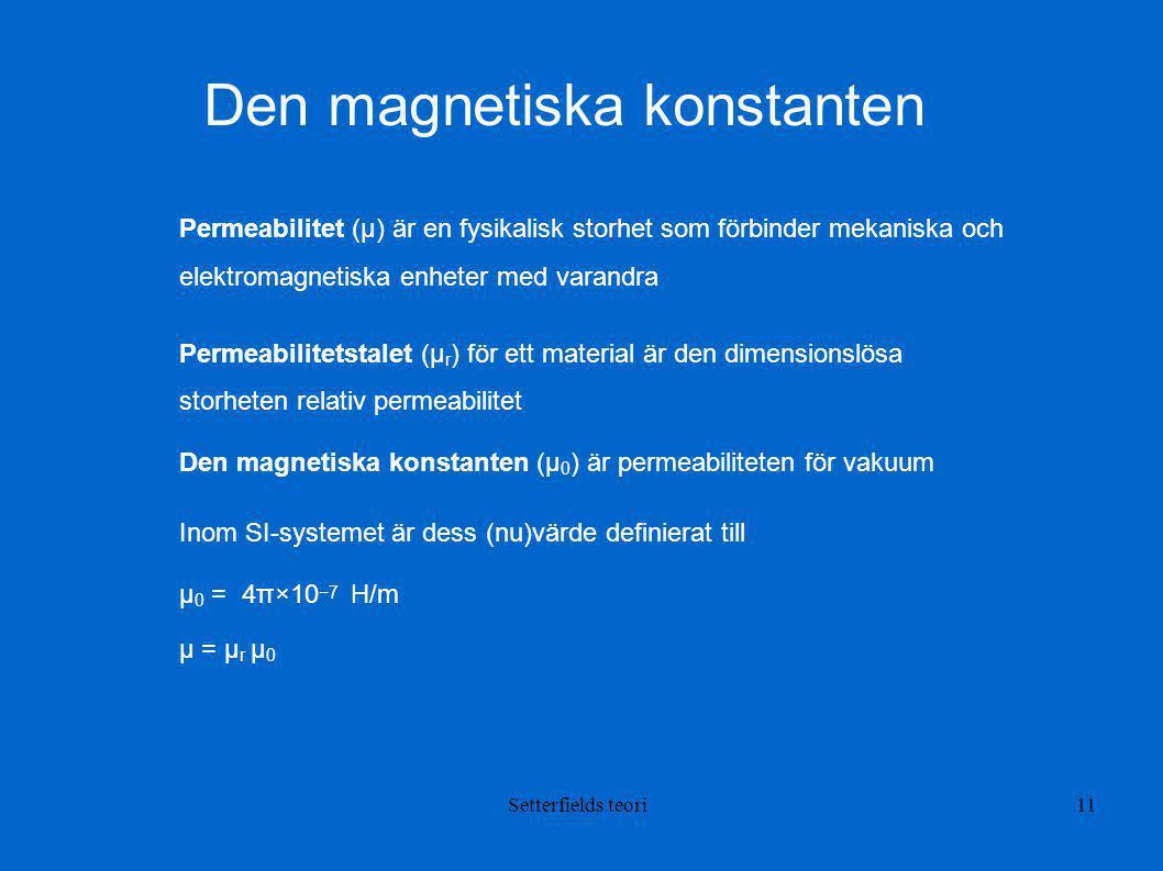 Den magnetiska konstanten