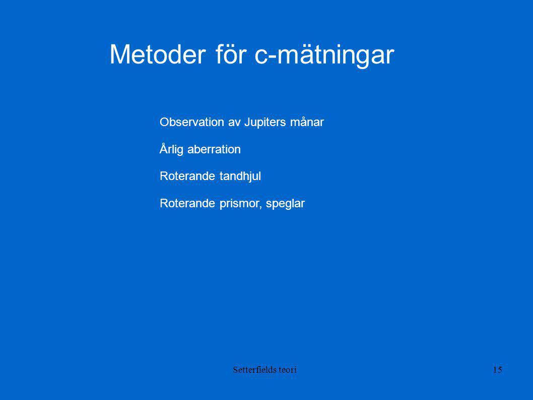Metoder för c-mätningar