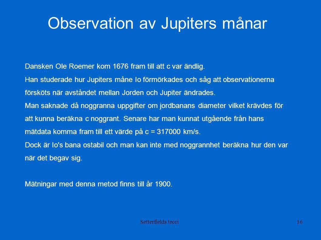 Observation av Jupiters månar