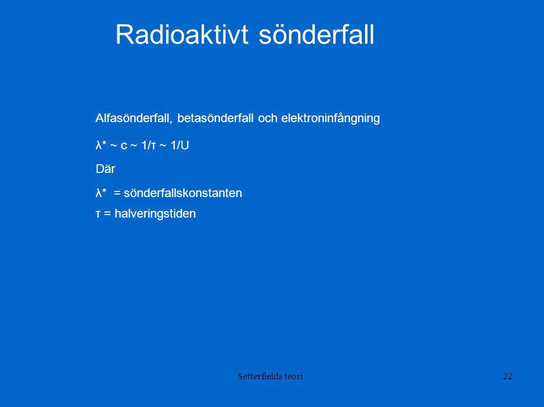 Radioaktivt sönderfall