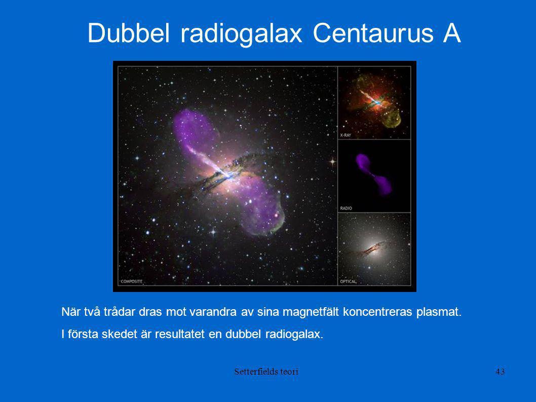 Dubbel radiogalax Centaurus A