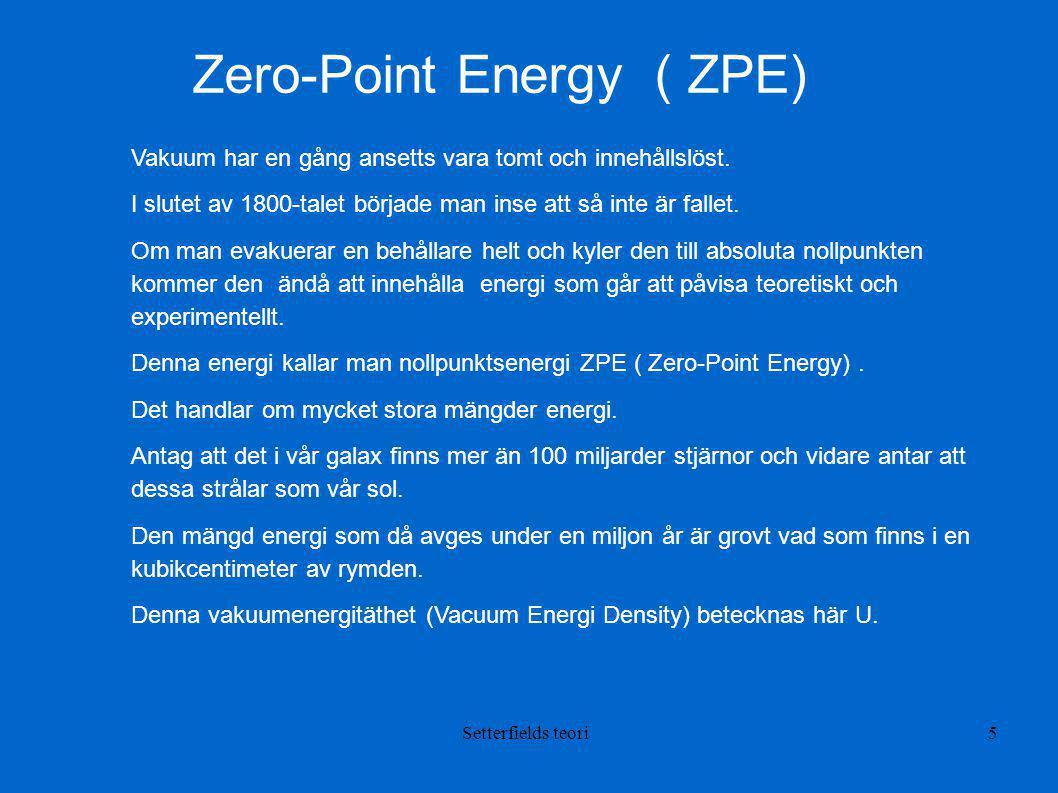 Zero-Point Energy ( ZPE)