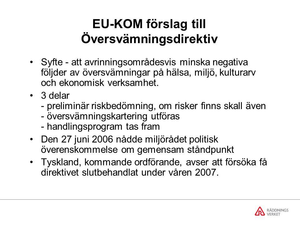 EU-KOM förslag till Översvämningsdirektiv