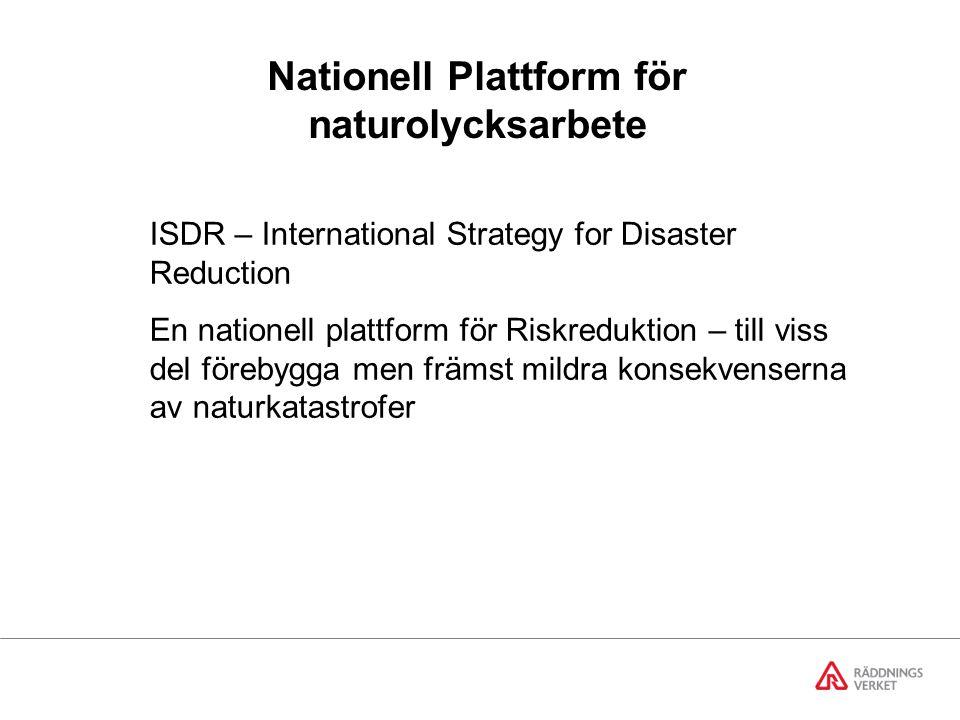 Nationell Plattform för naturolycksarbete