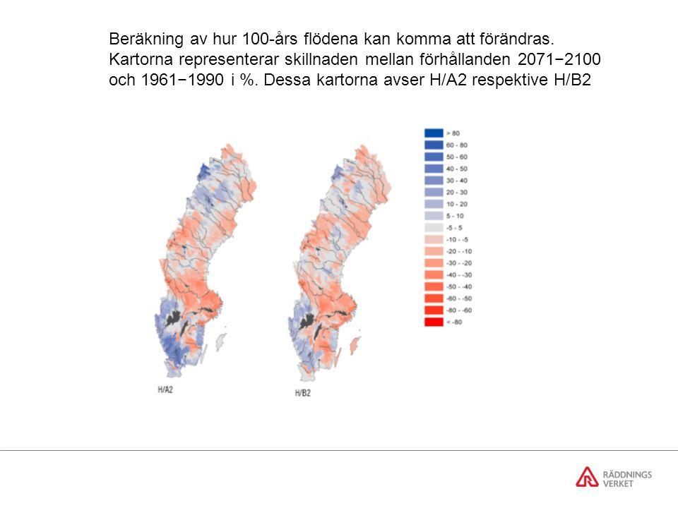 Beräkning av hur 100-års flödena kan komma att förändras