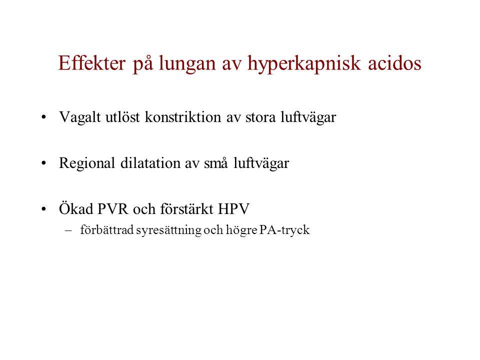 Effekter på lungan av hyperkapnisk acidos