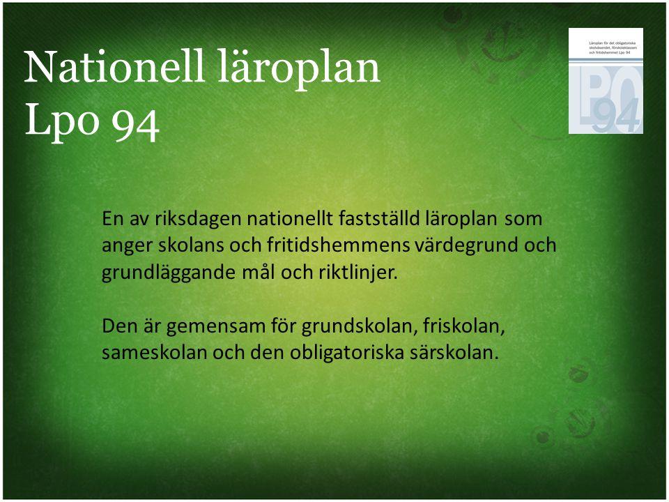 Nationell läroplan Lpo 94