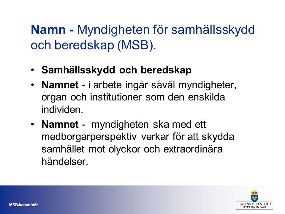 Namn - Myndigheten för samhällsskydd och beredskap (MSB).