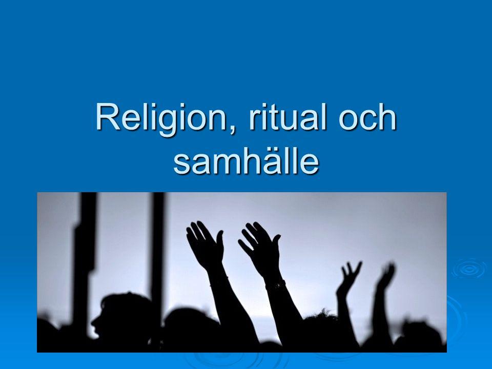 Religion, ritual och samhälle