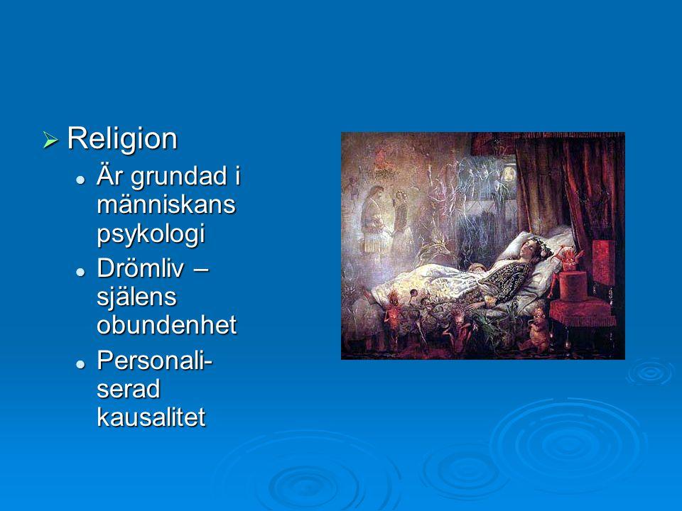 Religion Är grundad i människans psykologi