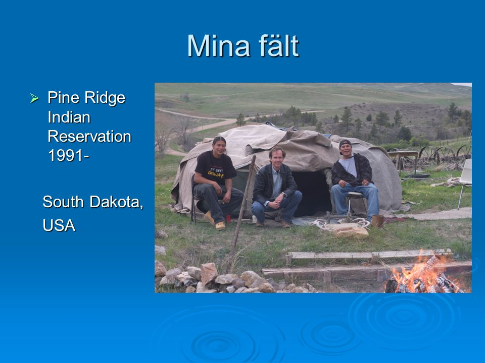 Mina fält Pine Ridge Indian Reservation 1991- South Dakota, USA