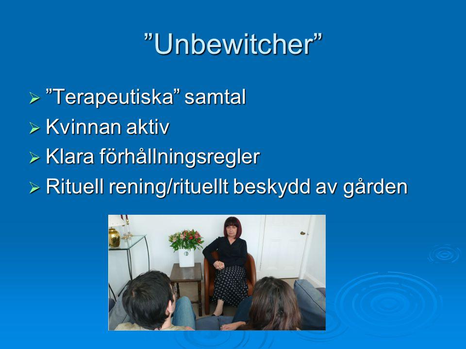 Unbewitcher Terapeutiska samtal Kvinnan aktiv