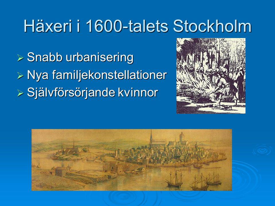 Häxeri i 1600-talets Stockholm