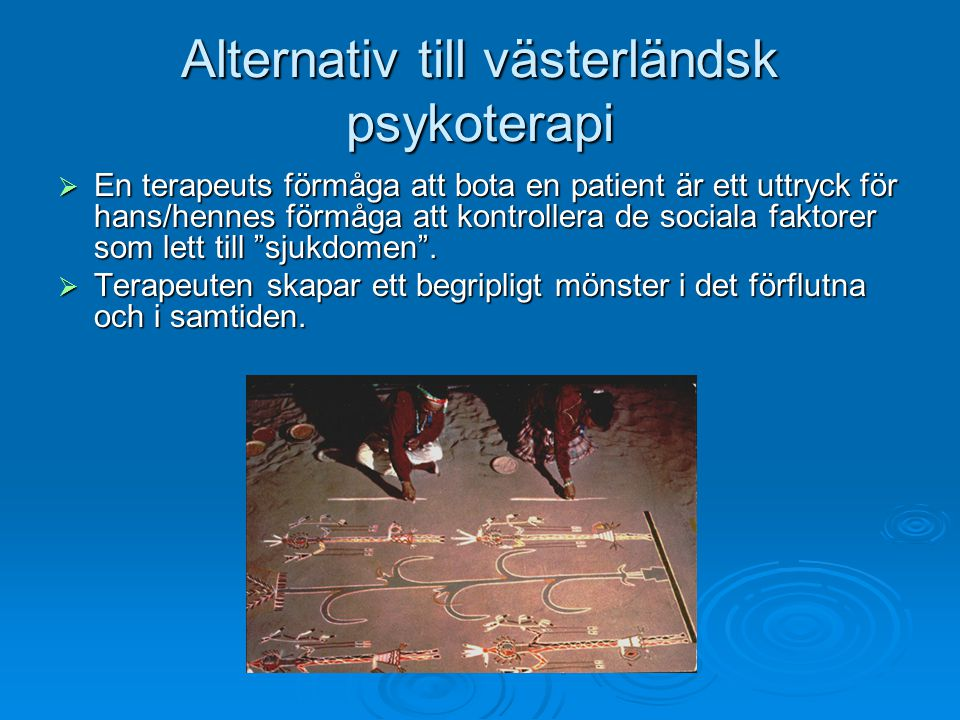 Alternativ till västerländsk psykoterapi
