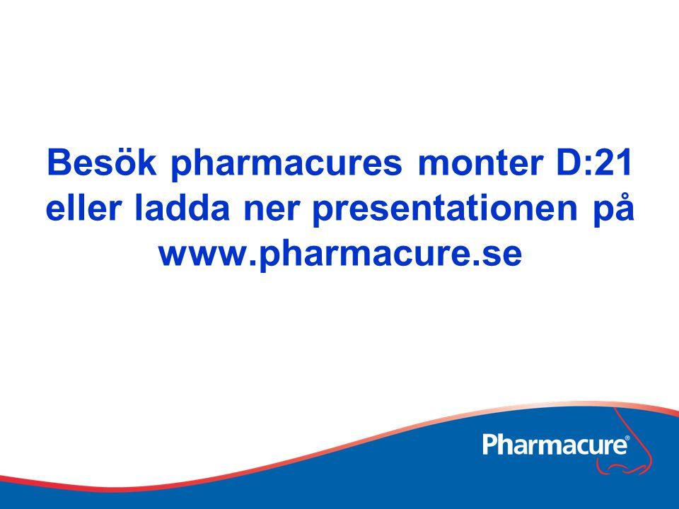 Besök pharmacures monter D:21 eller ladda ner presentationen på www