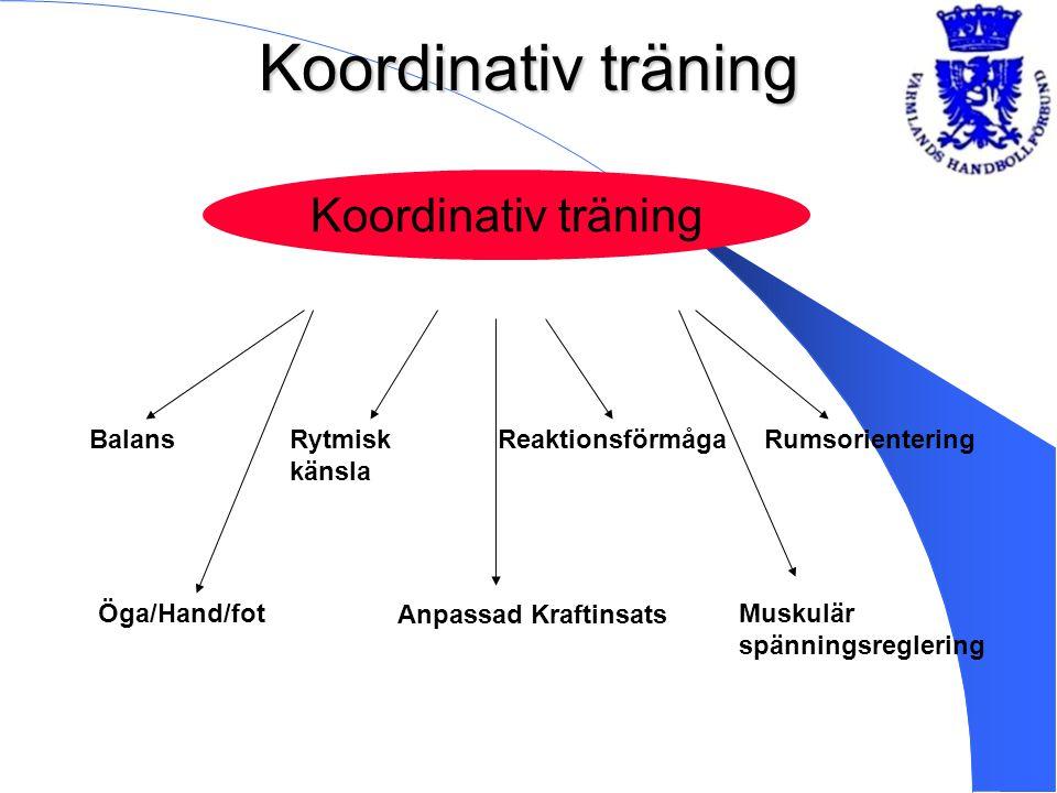 Koordinativ träning Koordinativ träning Balans Rytmisk känsla