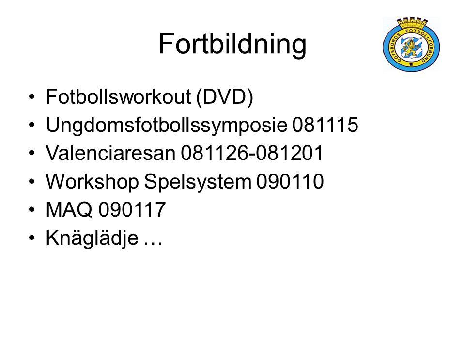 Fortbildning Fotbollsworkout (DVD) Ungdomsfotbollssymposie 081115