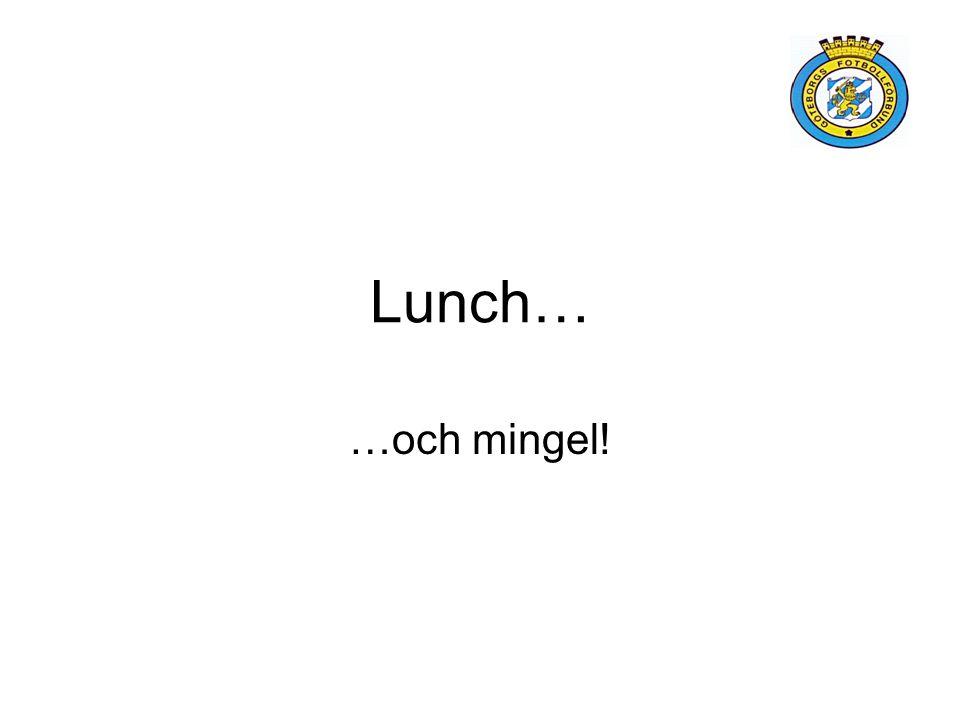 Lunch… …och mingel!