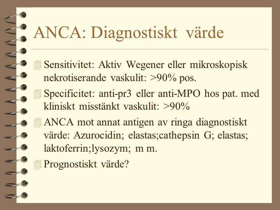 ANCA: Diagnostiskt värde