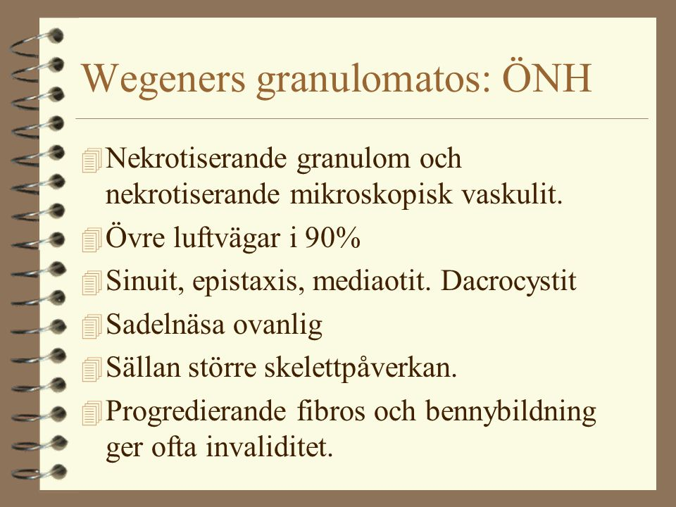 Wegeners granulomatos: ÖNH