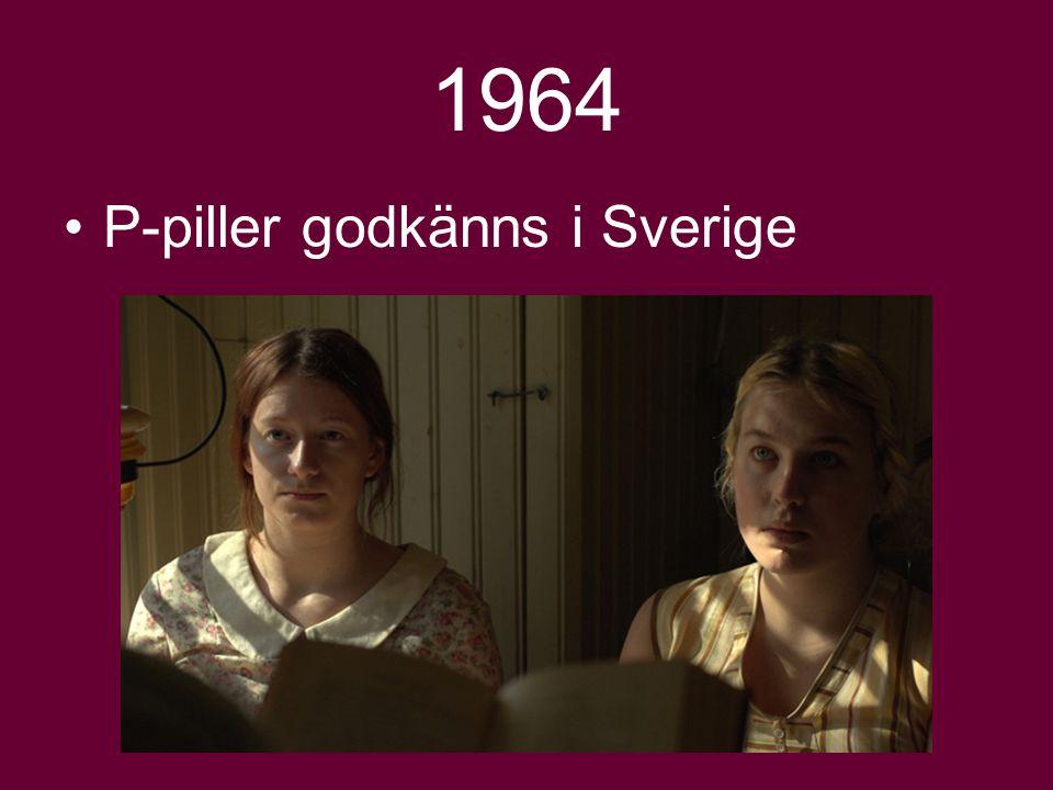 1964 P-piller godkänns i Sverige