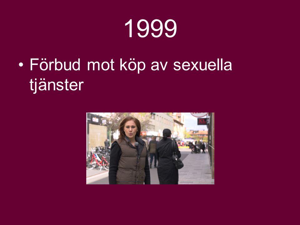 1999 Förbud mot köp av sexuella tjänster