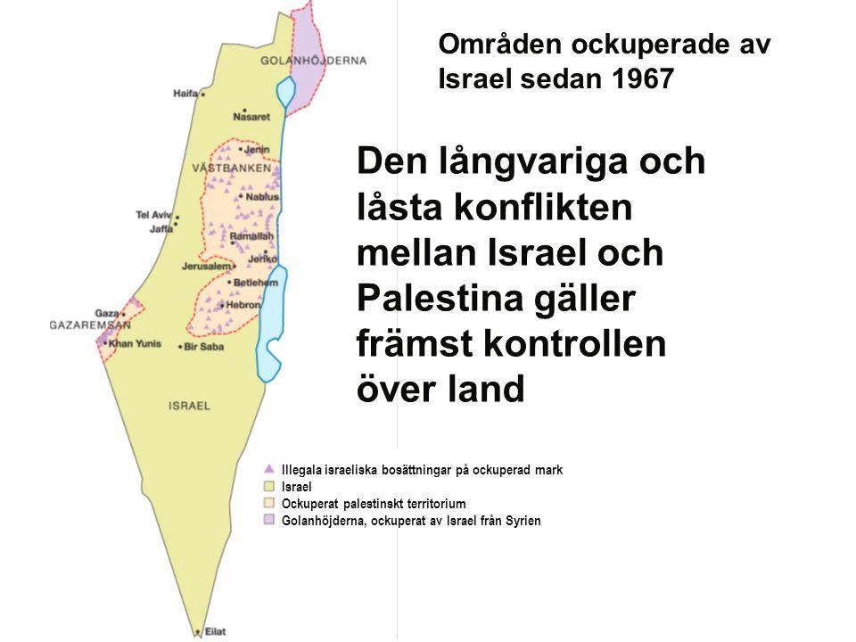 Områden ockuperade av Israel sedan 1967