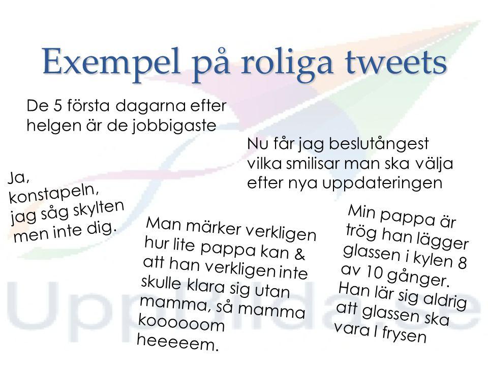 Exempel på roliga tweets