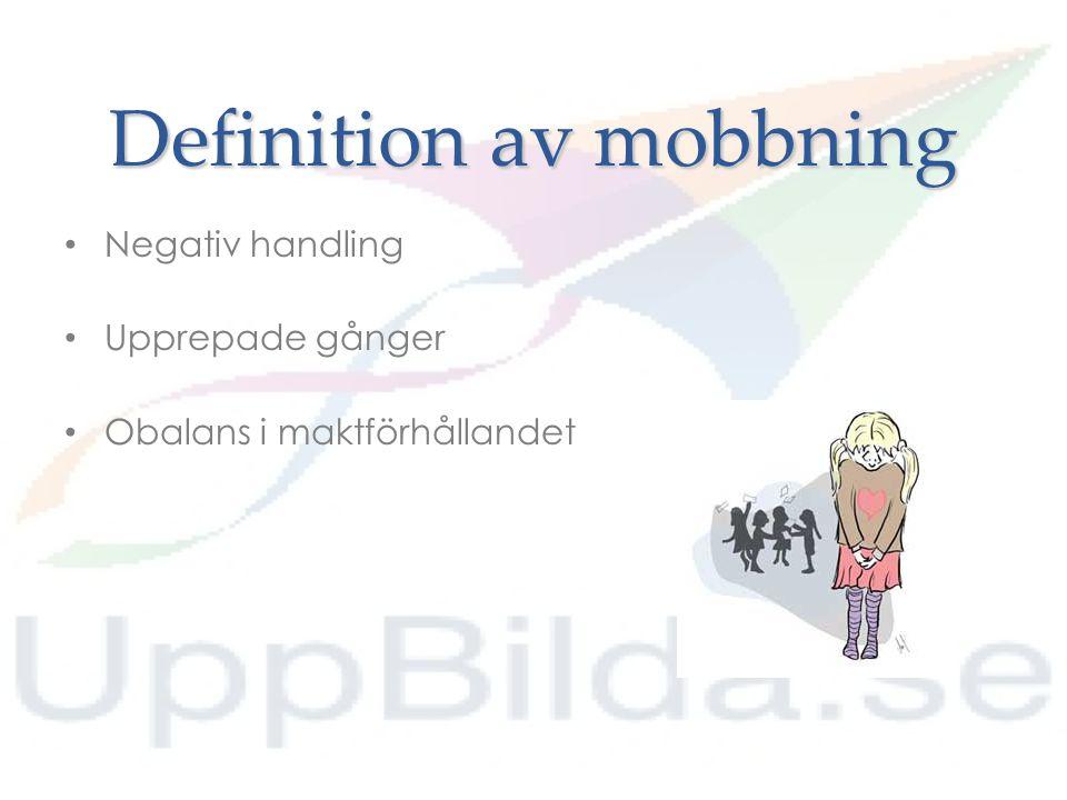 Definition av mobbning