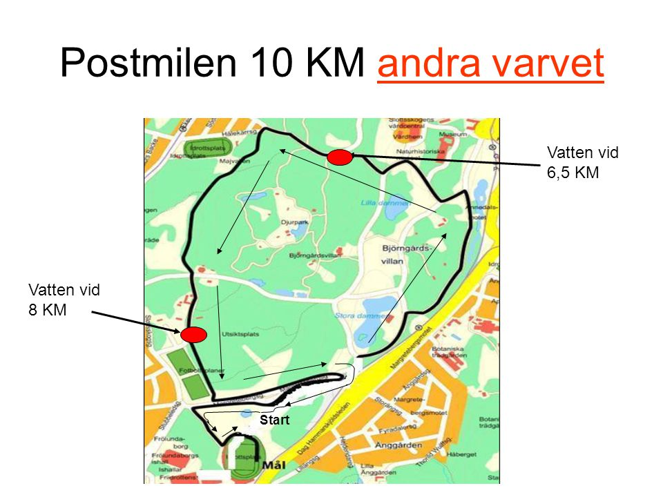 Postmilen 10 KM andra varvet