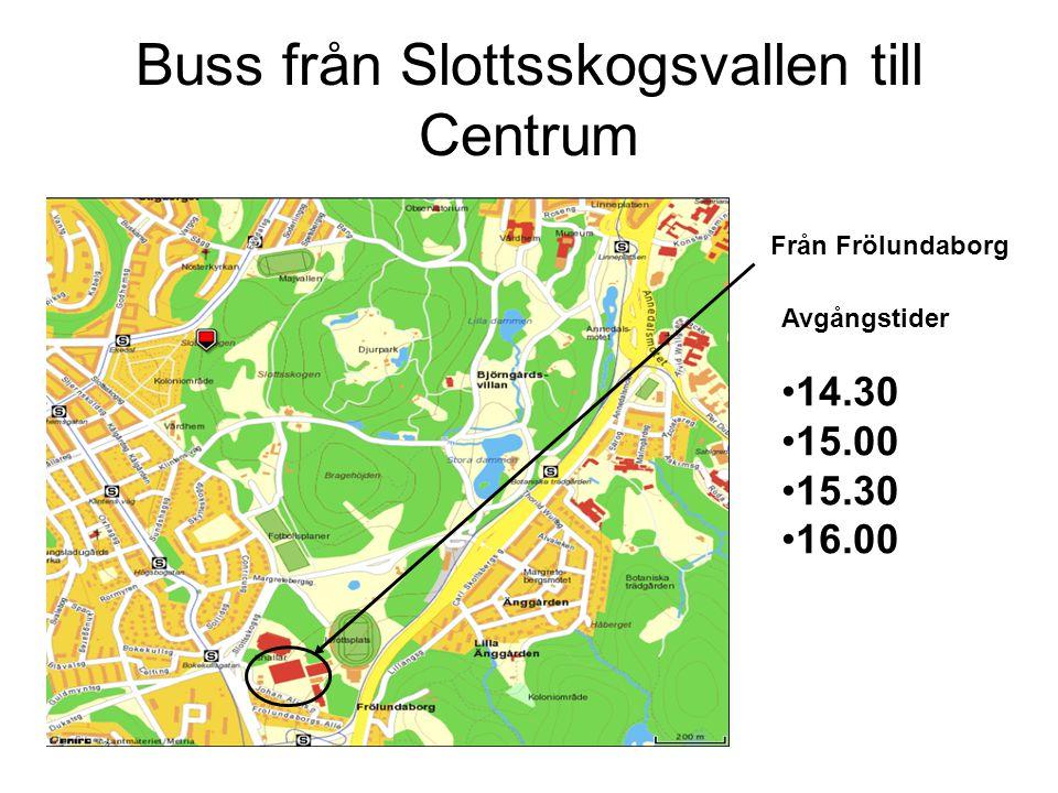 Buss från Slottsskogsvallen till Centrum