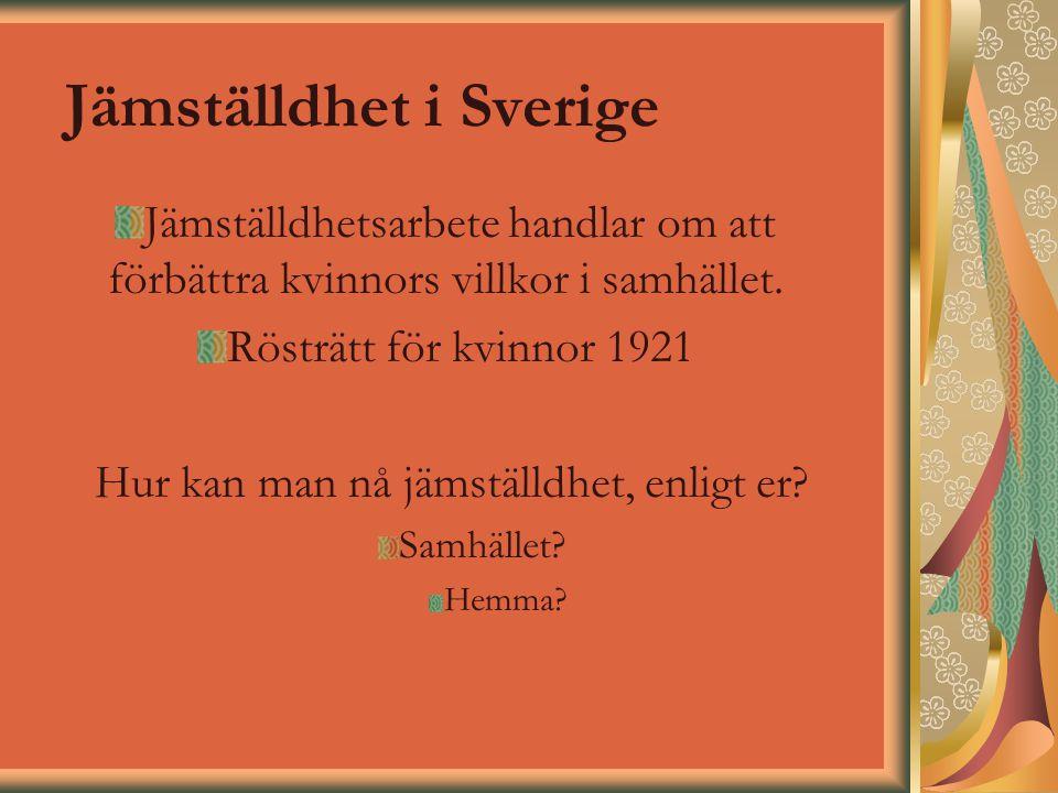 Jämställdhet i Sverige